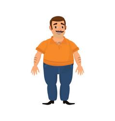 happy client caucasian or arabian man vector image