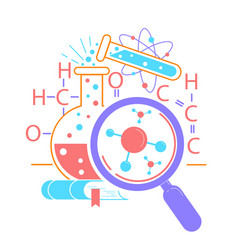 Icon science day vector
