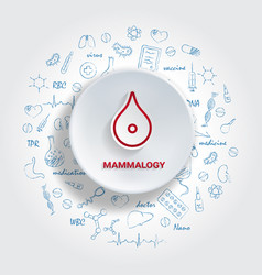 Icons for medical specialties mammalogy concept vector