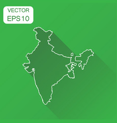 india linear map icon business cartography vector image