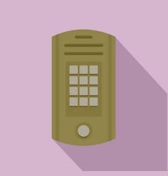 intercom icon flat style vector image