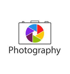 logo photo studio camera for photography icon vector image