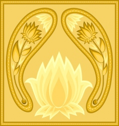 lotus background vector image