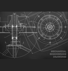 Mechanical engineering drawings black background vector
