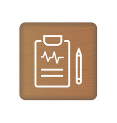 medical report line flat icon for mobile vector image