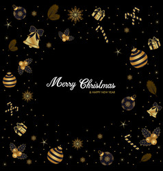 merry christmas luxury golden background gold bla vector image
