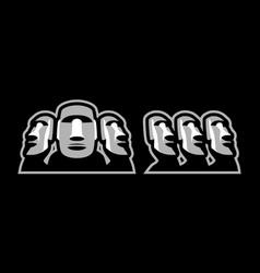 moai mascot design vector image