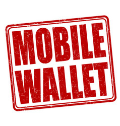 mobile wallet stamp vector image