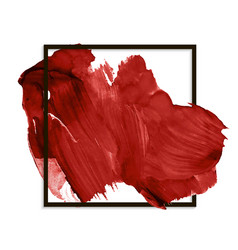 Modern red banner stain smear paint vector