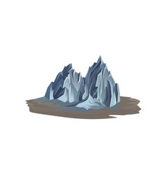 mountain range on the ground rocky hill with vector image