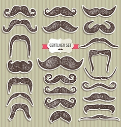 Moustaches set Design elements vector