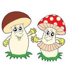 Mushroom and toadstool vector