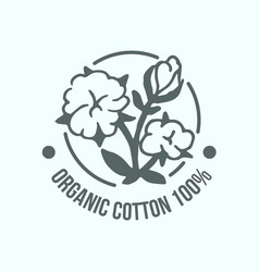 natural organic cotton pure cotton labels vector image