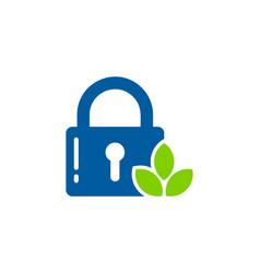 nature security logo icon design vector image