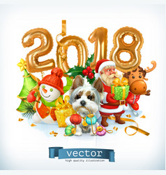 New year dog vector