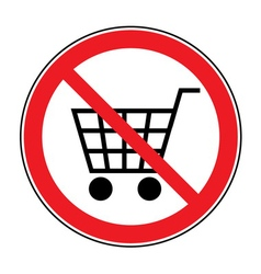 no cart sign vector image