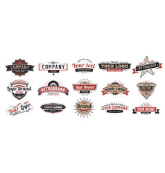 old badges vintage sign retro premium badge and vector image