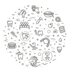 outline medicine vector image
