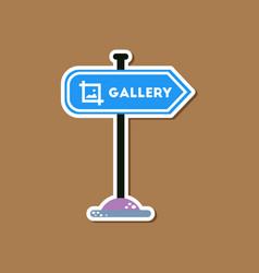 Paper sticker on stylish background sign gallery vector