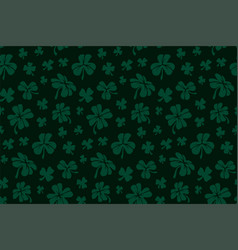 pattern with green shapes of clover leaves vector image