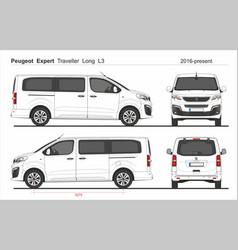 Peugeot expert traveller long van l3 2016-present vector