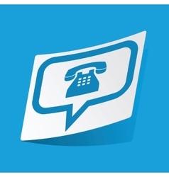 Phone message sticker vector