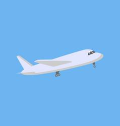 plane logo design vector image