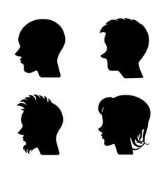 Profiles or cameo silhouettes vector