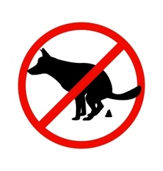 Prohibition sign paddock animals vector image