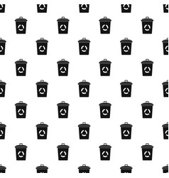 recycling eco bin pattern seamless vector image