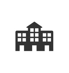 school building icon design template isolated vector image