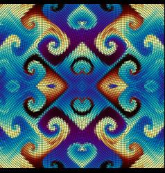 seamless mosaic art pattern vector image