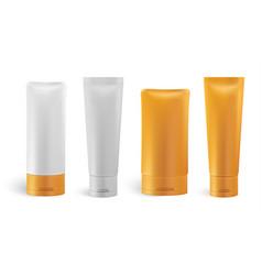 Set cosmetic bottles vector