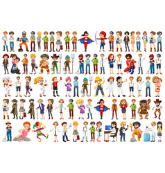 Set people with different occupation vector