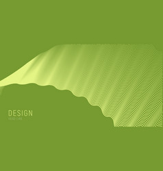 single wave made wavy lines pattern on green vector image