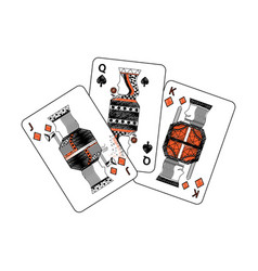 spades diamonds suits french playing cards related vector image