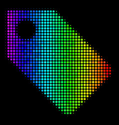 spectrum dot tag icon vector image