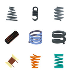 Spiral cable icon set flat style vector