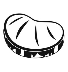 steak icon simple style vector image