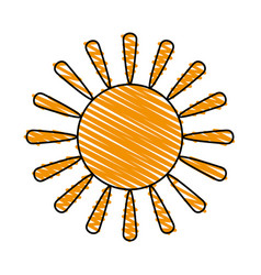 Sun cartoon icon image vector
