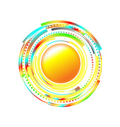 Sun icon with rays out of crescents sign or logo vector
