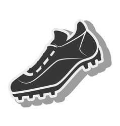 Tennis silhouette shoes baseball isolated vector