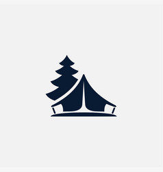 tent icon simple vector image