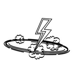 Thunder ray pop art style vector