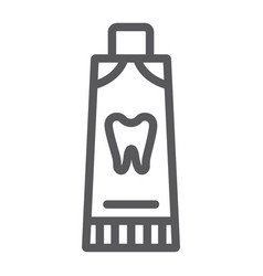toothpaste line icon dental and tube tooth care vector image