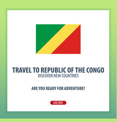 travel to republic of the congo discover and vector image