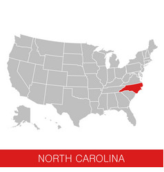 United states america with state north vector