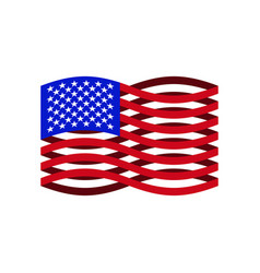 usa flag ribbon america national symbol vector image