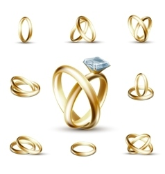 Wedding diamond ring vector