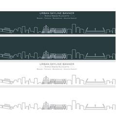 wellington single line skyline banner vector image
